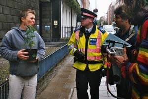 Free Cannabis in Hyde Park 2004